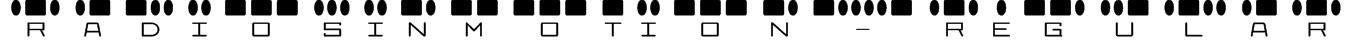 RadiosinMotion-Regular Font