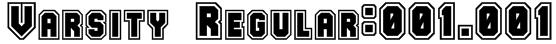 Varsity Regular:001.001 Font