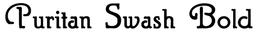 Puritan Swash Bold Font