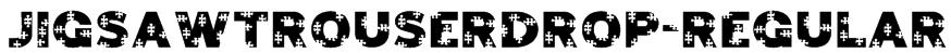 JigsawTrouserdrop-Regular Font