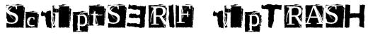 ScriptSERIF ripTRASH Font