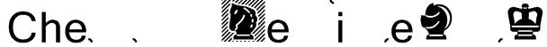 Chess Mediaeval Font