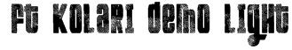 FT Kolari demo light Font