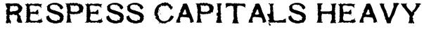 Respess Capitals Heavy Font