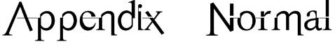 Appendix   Normal Font