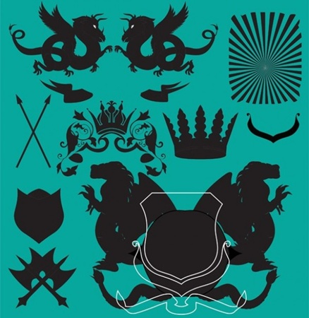 creative,design,download,elements,emblem,graphic,illustrator,new,original,set,vector,web,shield,detailed,interface,crest,silhouette,unique,vectors,quality,stylish,banners,fresh,high quality,ui elements,heraldry,hires,crowns,dragons,heraldic,crossed swords,winged lions vector