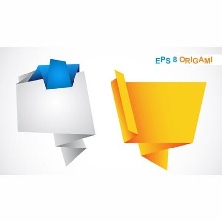 design,elements,set,vector,labels,vectors,banners,origami vector