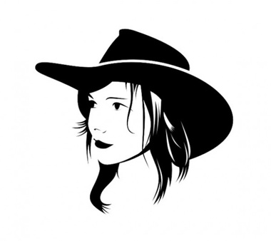 avatar,creative,design,download,elements,eps,graphic,hat,illustrator,new,original,vector,web,cdr,detailed,interface,girl,silhouette,head,unique,vectors,quality,cowgirl,stylish,fresh,high quality,ui elements,hires,girl silhouette,cowboy hat,cowgirl silhouette vector