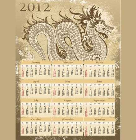 calendar,creative,design,download,dragon,graphic,illustrator,new,original,vector,web,unique,vectors,quality,stylish,2012,fresh,high quality,ui elements,chinese dragon,year of  dragon vector