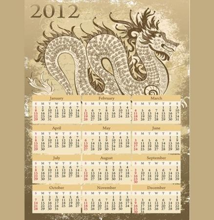 calendar,creative,design,download,dragon,graphic,illustrator,new,original,vector,web,unique,vectors,quality,stylish,2012,fresh,high quality,ui elements,chinese dragon,year of  dragon vector