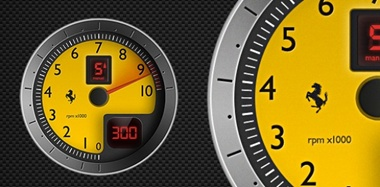 car,graphic,illustration,vector,speed,racing,vectors,meter,speedometer,f430,ferarri,tachometer vector