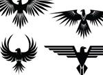 4 Eagle Symbol Tattoo Style Vector Graphics