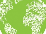 Green Eco Planet Abstract Vector Illustration