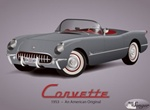 Classic 1953 Corvette Original Vector Graphic