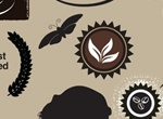 Coffee And Silhouette Elements Vector Set