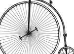 Vintage Big Wheel Bicycle Vector Graphic