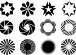 12 Web Design Objects & Shapes Vector Elements