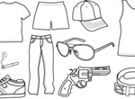 Vector Sketch Drawings Of Men's Apparel