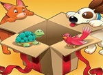 Colorful Cartoon Gift Pets Vector Illustration