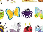 12 Funny Little Vector Insects Set