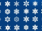 21 Cold Crisp Snowflakes Elements Set PSD