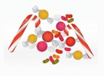Pile Of Candy Christmas Vector Illustration