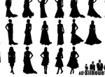 Women Of Fashion Vector Silhouettes