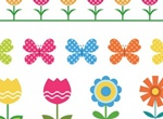Sweet Polka Dots Flower Pots & Butterflies