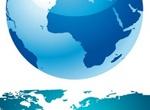 Blue Earth Globe & World Map Vector Set