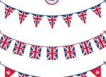 3 Jubilee Bunting Queen & Flag Vector Templates