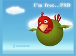 I'm Free Bird Vector Illustration