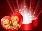 Bursting Hearts Gift Box Vector