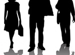 Business Workers Action Vector Silhouettes