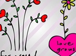 Simplistic Heart Floral Vector Graphics