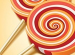 Colorful Swirl Lollipop Candy Vector