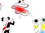 People Dance Forms Vector Sketches