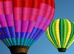 Vibrant Hot Air Balloons Vector Graphics