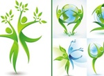 Nature Earth Dancing Vector Figures