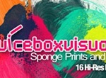 Sponge Prints And Swirls Set