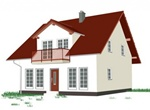Quaint House With Dormer Vector Graphic
