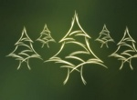 Christmas Glowing Trees Vector