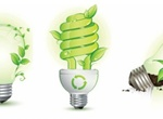 3 Green Leaf And Energy Saving Lamps Vector Logo Pack