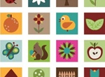 Nature Art Patchwork Pattern Vector Illustration