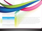 Vector Web Design With Background