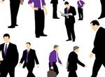 32 Businessmen Silhouettes