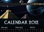 2012 Mayan Theme Vector Calendar