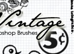 Vintage Post Card Brushes