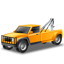 Car, Towtruck, Transportation, Vehicle, Yellow Icon