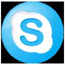Blue, Button, Skype, Social Icon