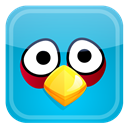Angry, Bird, Blue Icon